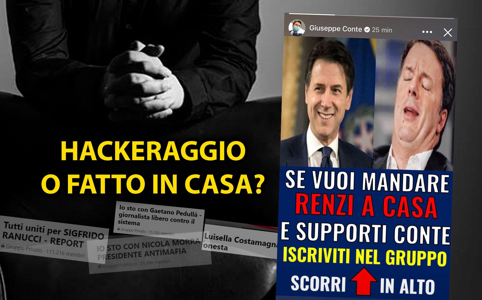 Un hackeraggio dietro la storia di Conte contro Renzi? Le strade social portano al Movimento 5 Stelle
