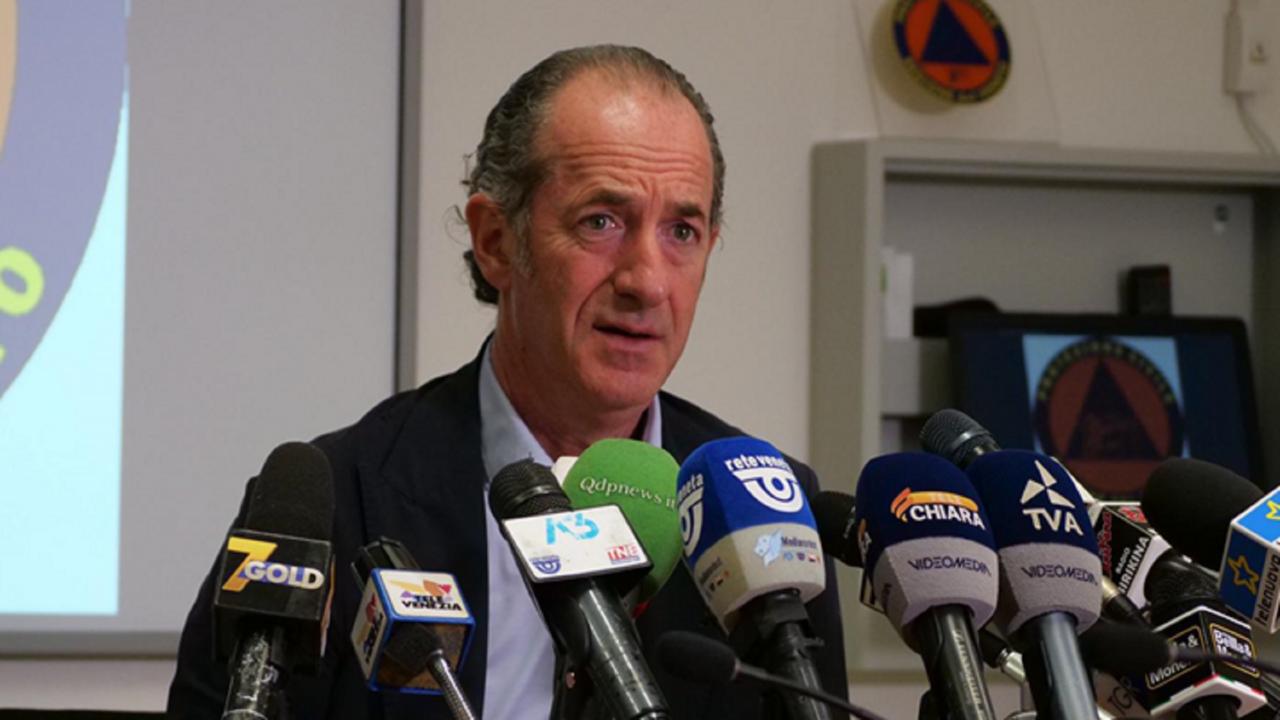 In Veneto 603 nuovi casi e 5 decessi. Zaia: «L'Italia diventa arancione perché le scuole restano aperte»