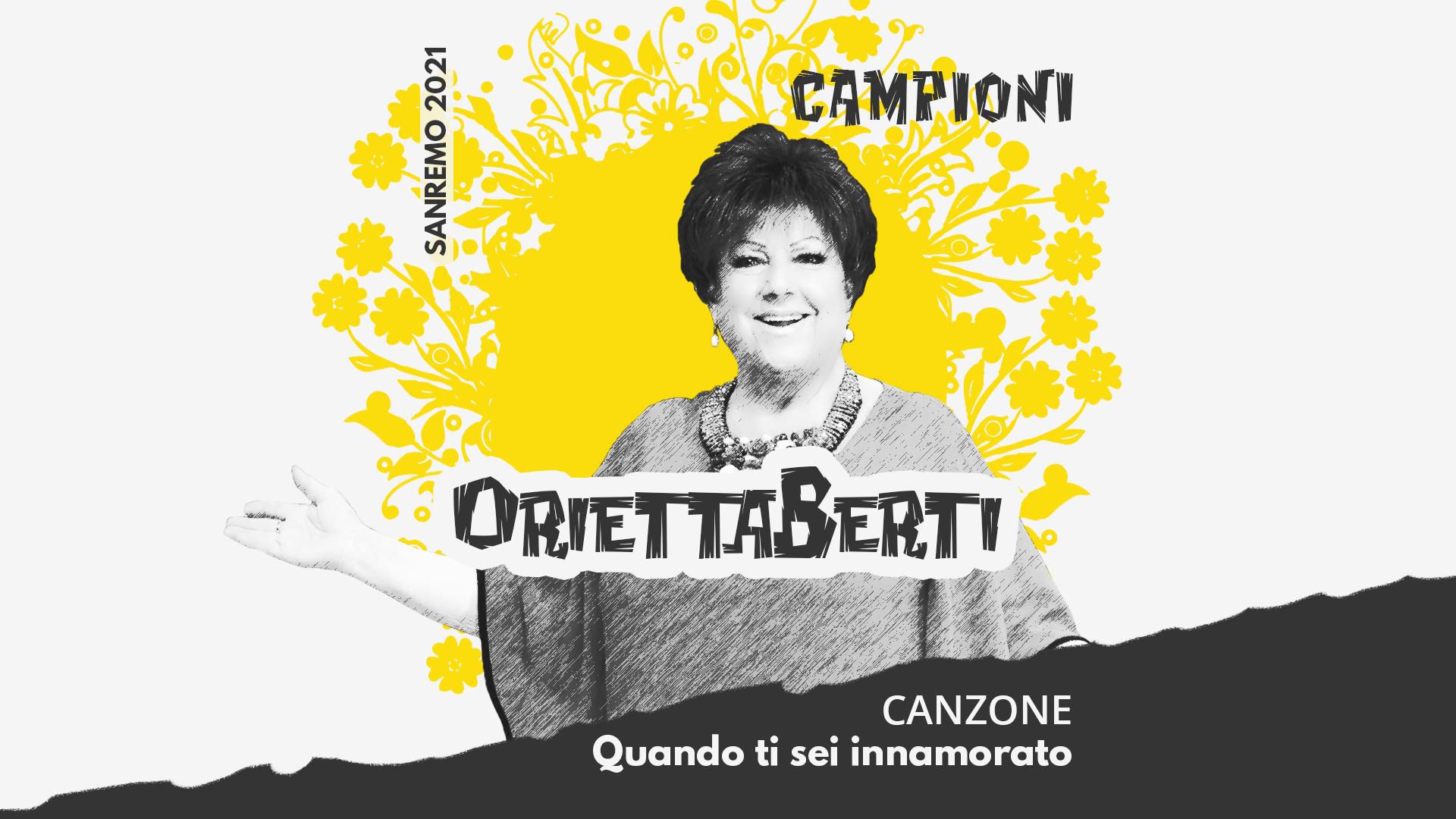 Sanremo 2021, Orietta Berti – Quando ti sei innamorato