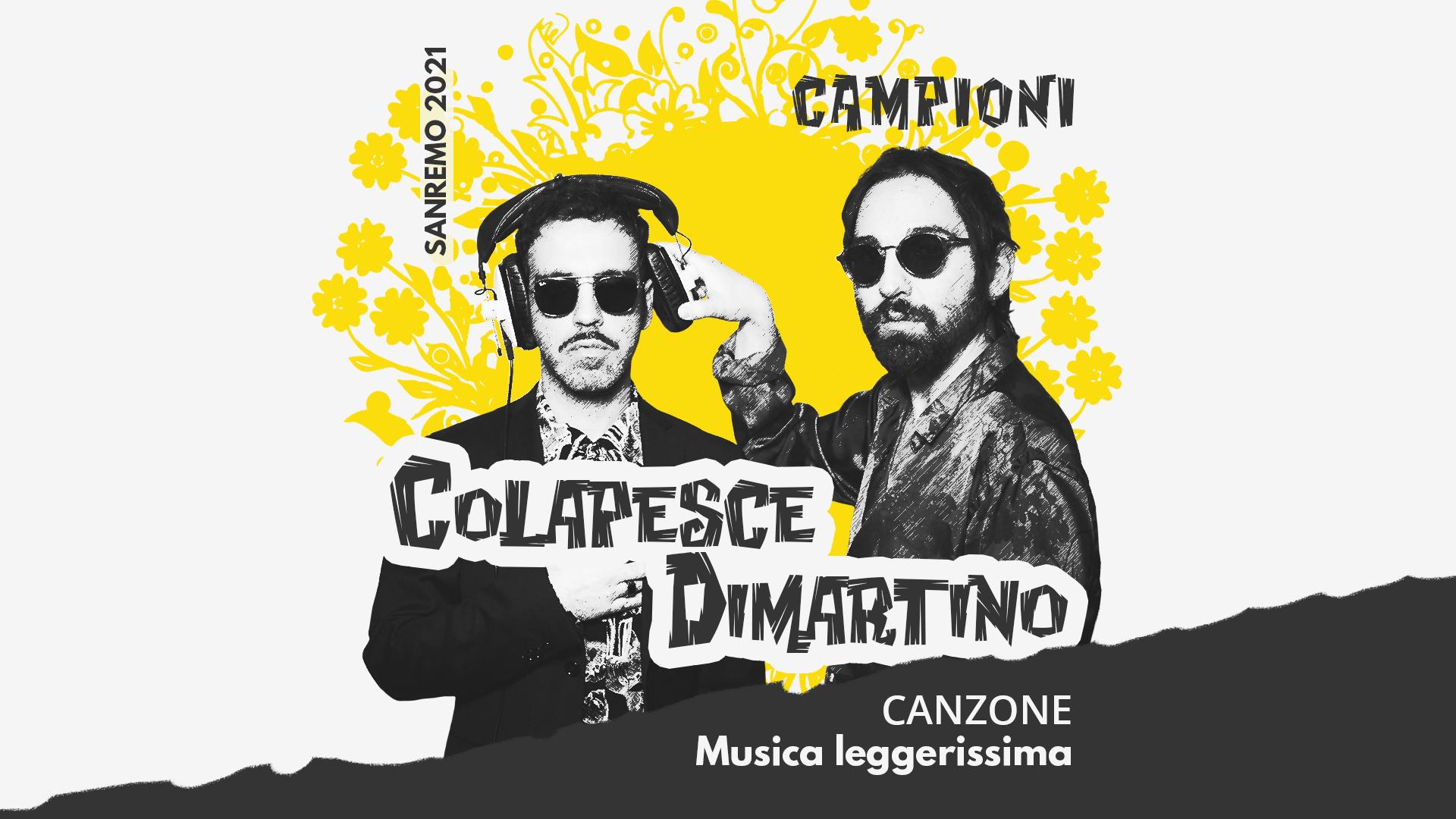 Sanremo 2021, Colapesce e Dimartino – Musica leggerissima