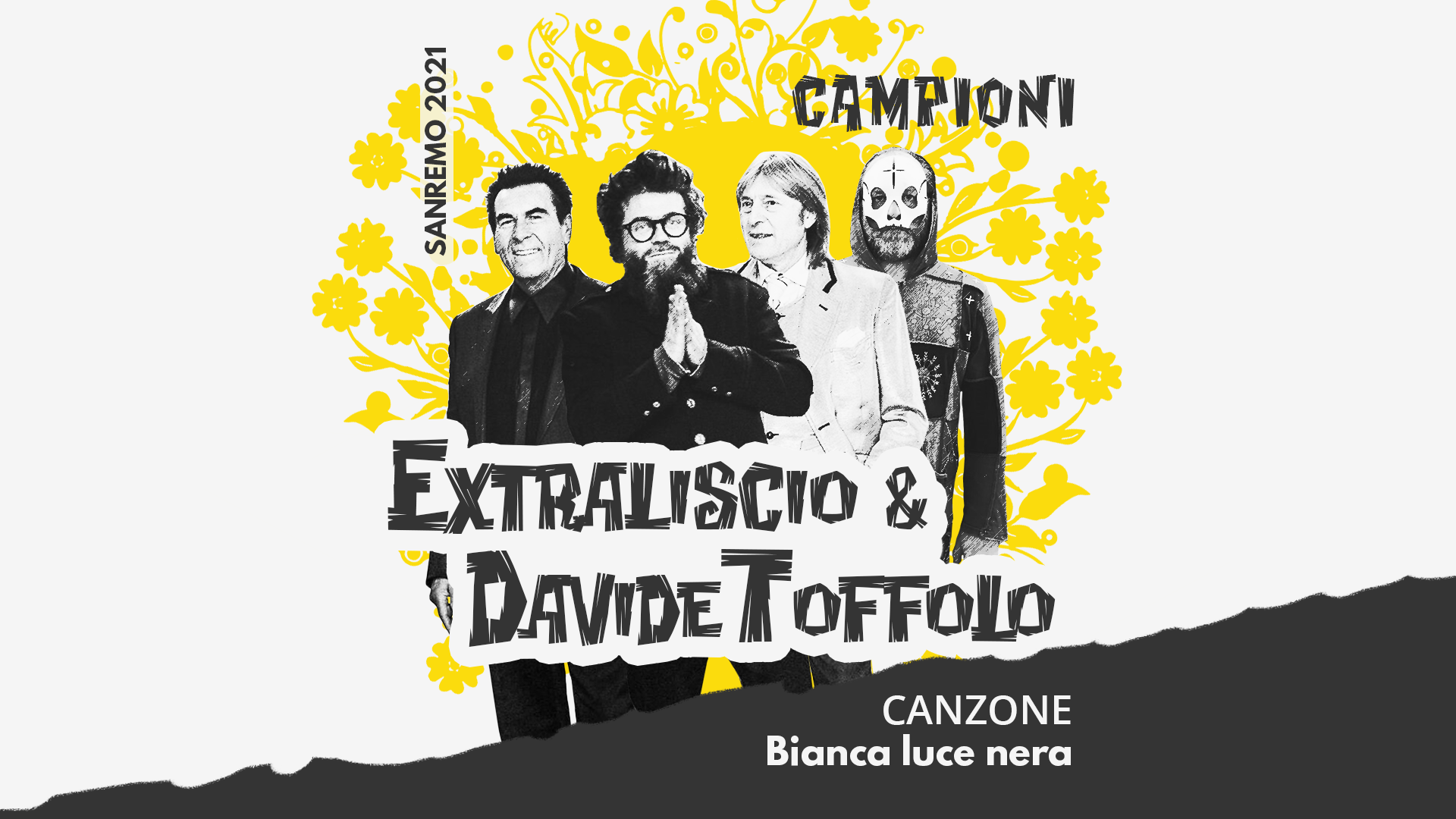 Sanremo 2021, Extraliscio e Davide Toffolo – Bianca luce nera