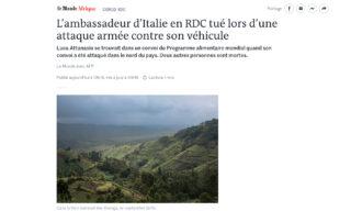 Le Monde attanasio congo Iacovacci