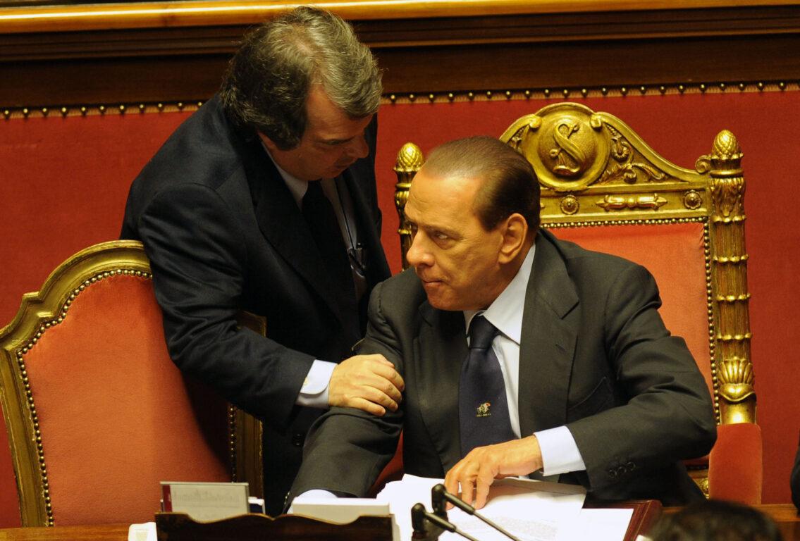 Silvio Berlusconi e Renato Brunetta al Senato