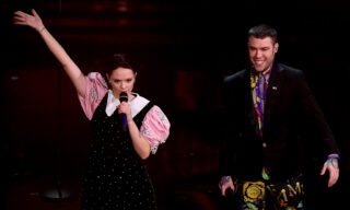 Italian singers Francesca Michielin e Fedez perform on stage at the Ariston theatre during the 71st Sanremo Italian Song Festival, Sanremo, Italy, 04 March 2021. The festival runs from 02 to 06 March.    ANSA/ETTORE FERRARI