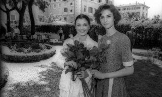 19870622-ROMA-PRESENTAZIONE DI 'LE DIVINE'  CON CARLA FRACCI E ALESSANDRA MARTINEZ. ANSA ARCHIVIO/R 10542