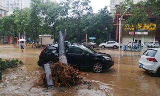 Heavy floods in Central China Zhengzhou