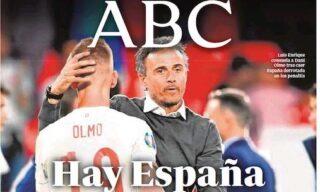 La prima pagina del quotidiano Abc dopo Italia-Spagna