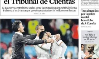 La prima pagina del quotidiano La Vanguardia dopo Italia-Spagna