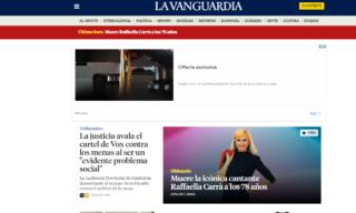 La notizia della morte di Raffaella Carrà su La Vanguardia