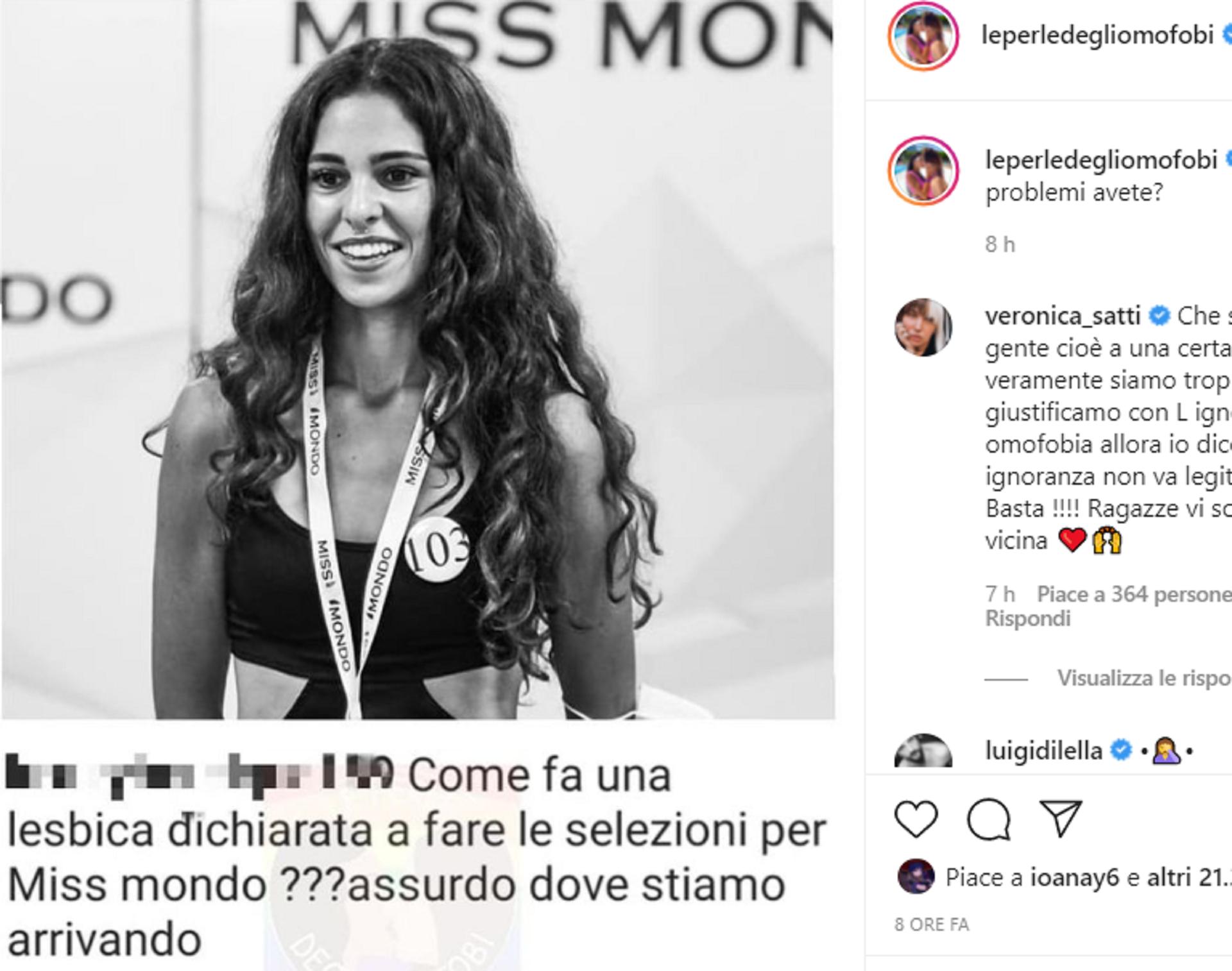 «Sei passata solo perché sei lesbica»: l'odio omofobo contro la finalista di Miss mondo Italia e la fidanzata ...